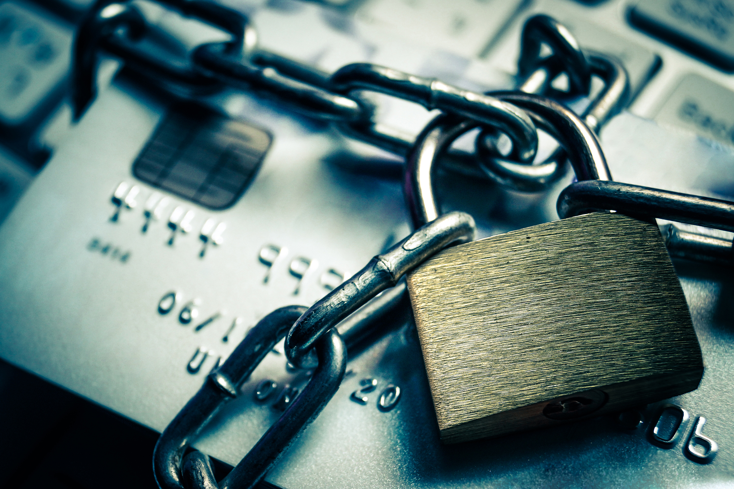 chained credit cards